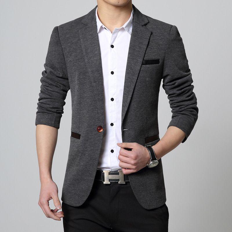 Wholesale- Blazer Men 2016 Stylish Men Suits Slim Fit Casual Suit ...