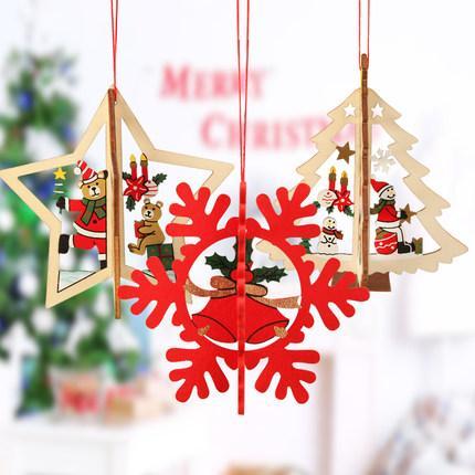 Wholesale 2016 top sales christmas decoration wooden bell for Christmas decoration sales 2016