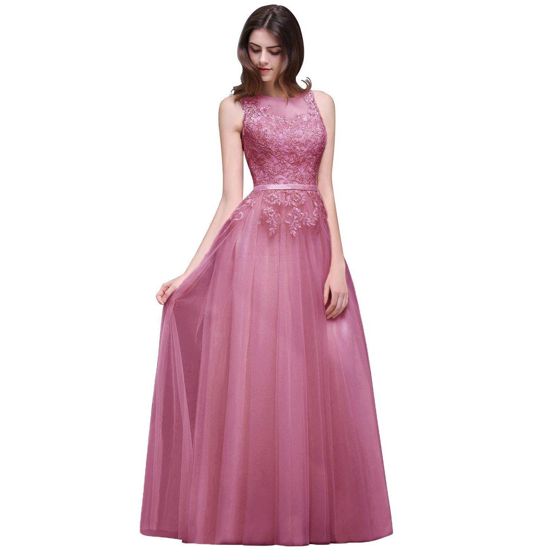 2017 Cheap Robe De Soiree Longue Dusty Pink Long Evening Dresses ...