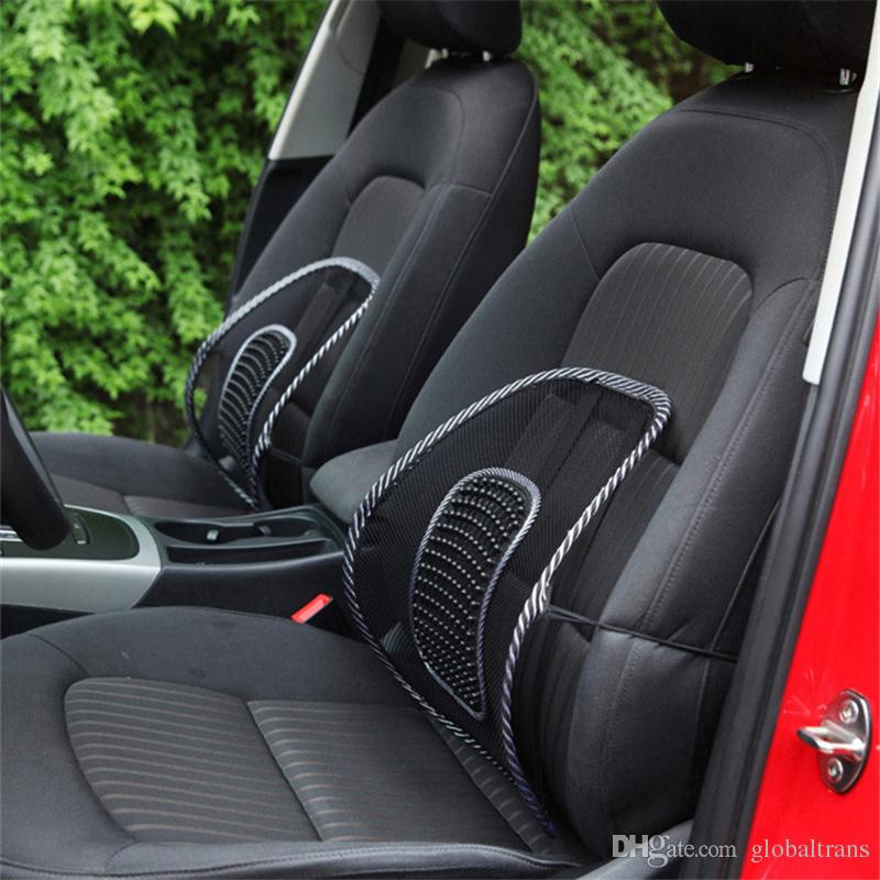 Car Seat Back Support Massage Design Black Mesh Lumbar Pads