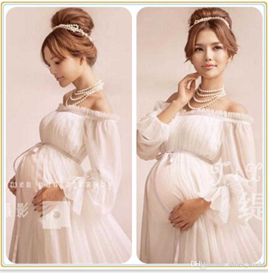 2017 royal style white maternity lace dress pregnant photography 2017 royal style white maternity lace dress pregnant photography props pregnancy maternity photo shoot long dress nightdress one size maternity dress ombrellifo Choice Image