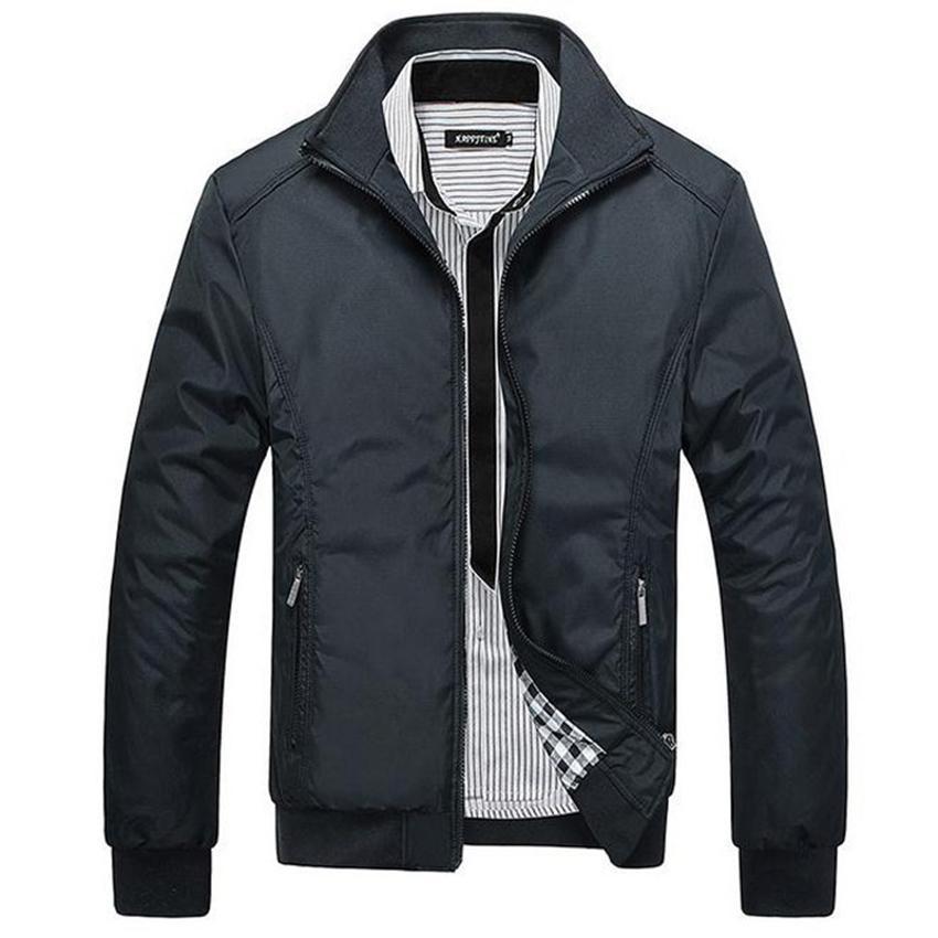Wholesale- 2017 New Cheap Mens Jackets Solid Color Men's Outwear ...