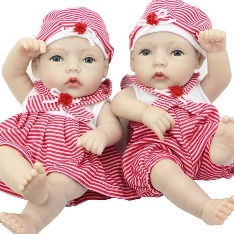 Full Silicone Vinyl Newborn Babies Boy And Girl Dolls