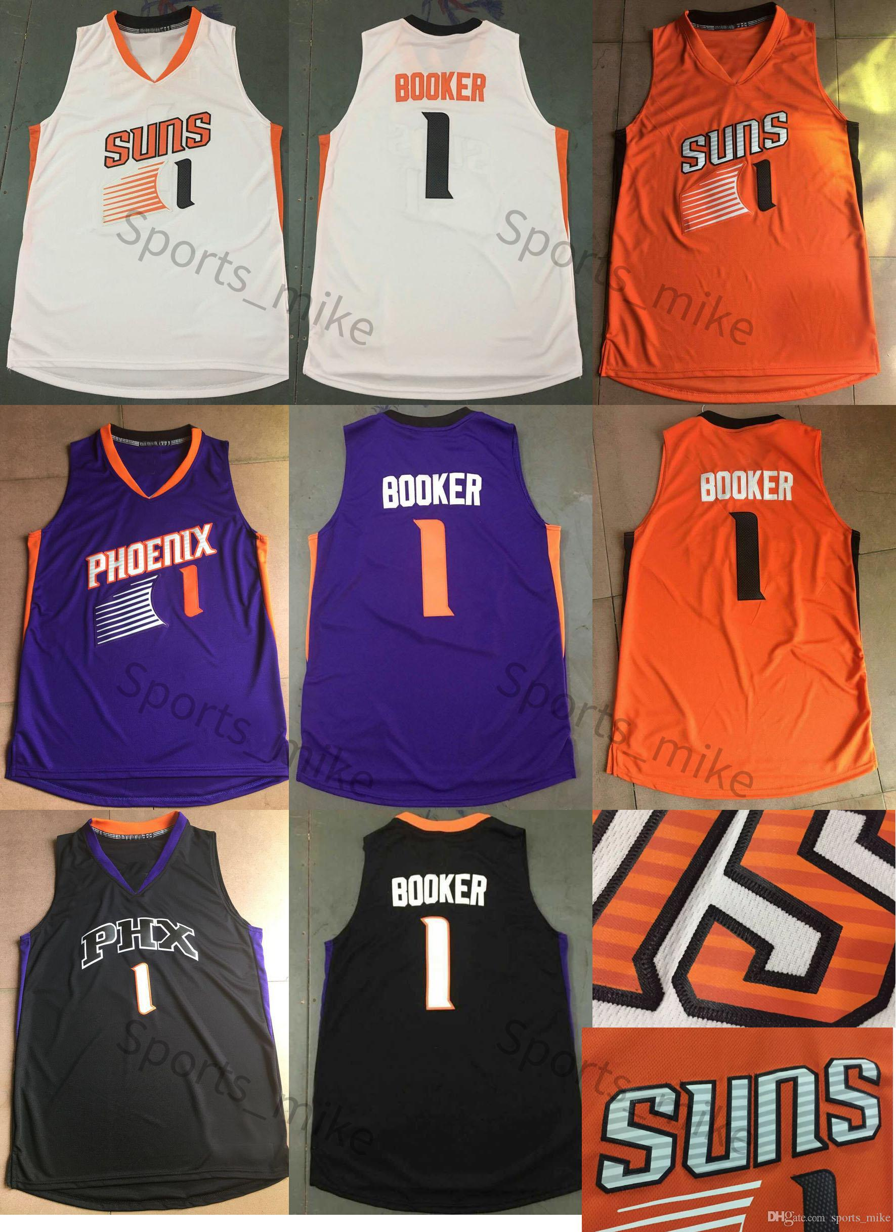 2017 bon marché Charles Devin Booker # 1 Running Jersey SUNS PHX PHOENIX Chemise