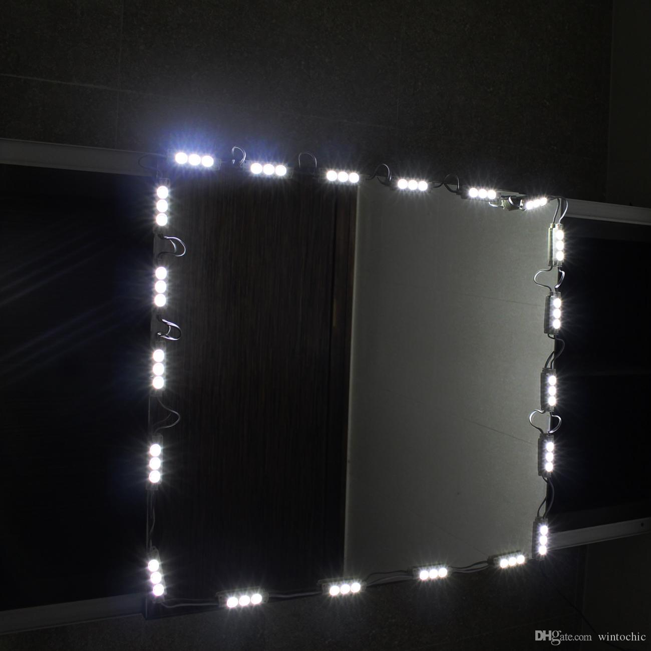 2018 10ft Led Mirror Light Kit Hollywood Makeup Mirror Light Vanity White With Dimmer From ...