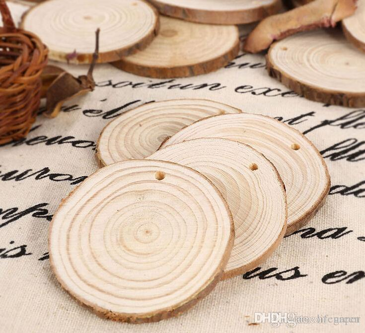 Wholesale round wooden wood log slice natural tree