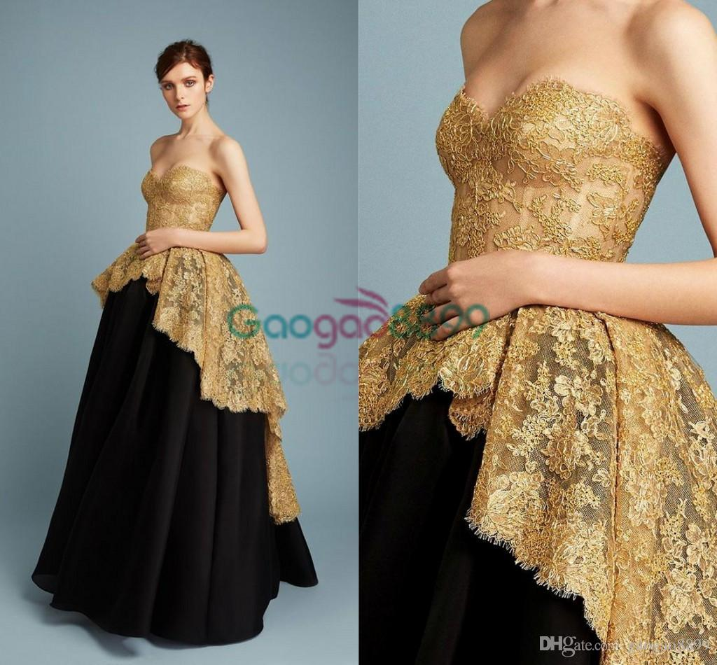 Gold and Black Ball Gown_Black Dresses_dressesss