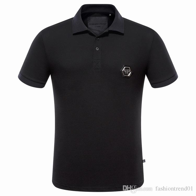 Classic Solid German qp polo shirt Casual Short Sleeve 100% coton polo homme mar