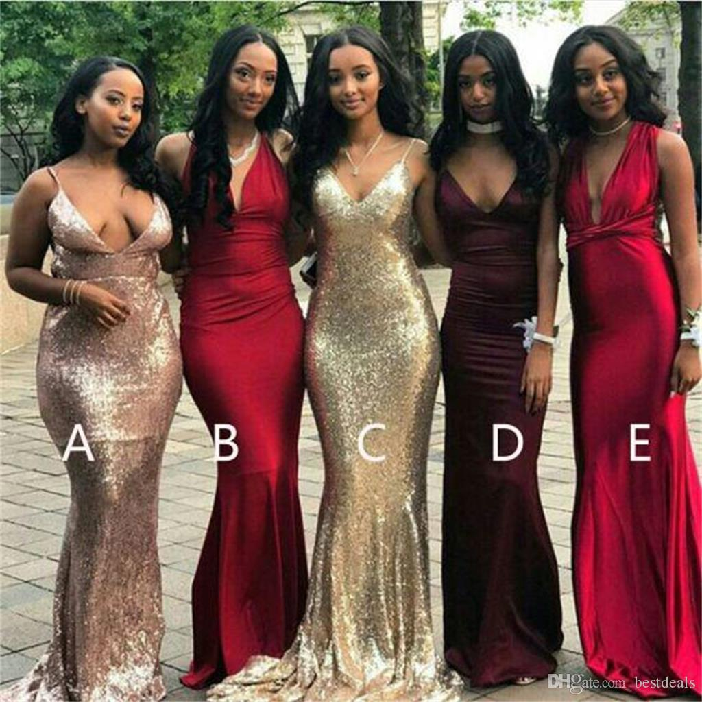 2018 cheap mismatched v neck sexy mermaid bridesmaid dresses 2018 cheap mismatched v neck sexy mermaid bridesmaid dresses popular long prom dress formal wedding guest dress custom made mermaid bridesmaid dresses ombrellifo Gallery
