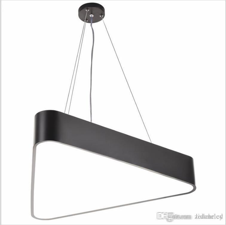 office pendant lighting. modern lustre luminaire triangle led pendant light office lamp indoor lighting fixture lampadas suspension lights