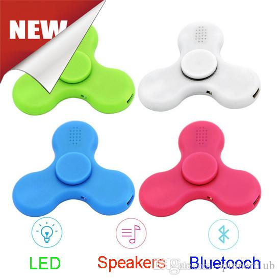 Le plus récent Fidget Spinner Toy Finger Spinner Jouet Led Speakers Musique Blue