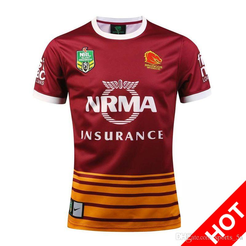 NRL National Rugby jerseys League Brisbane Home rouge Maillot de rugby Broncos M