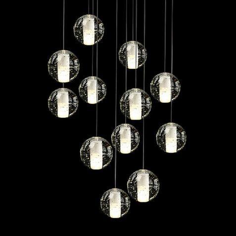 2017 modern glass bubble light fixture loft meteor shower led light with bubbles for restaurant modern bubble lighting fixtures