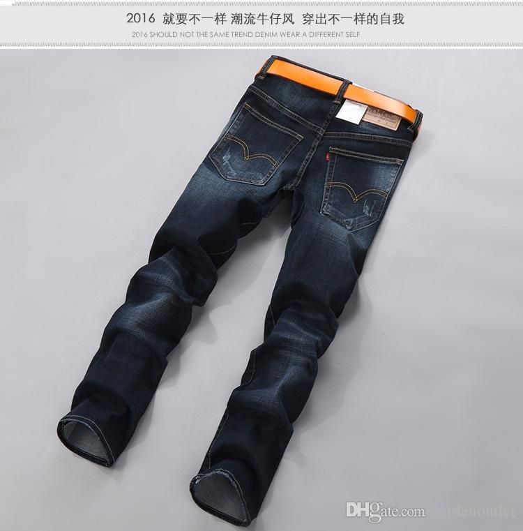 2017 Jeans Wholesale Store 2017 Winter Blue Color Jean Male Young ...