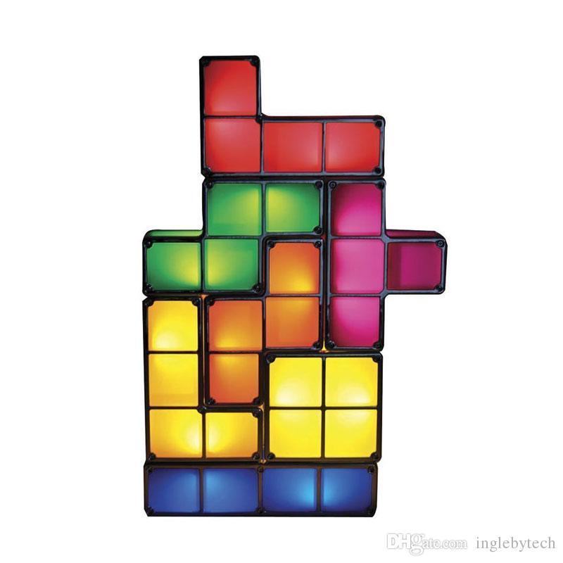 2017 New Arrival Tetris Light Constructible Retro Game