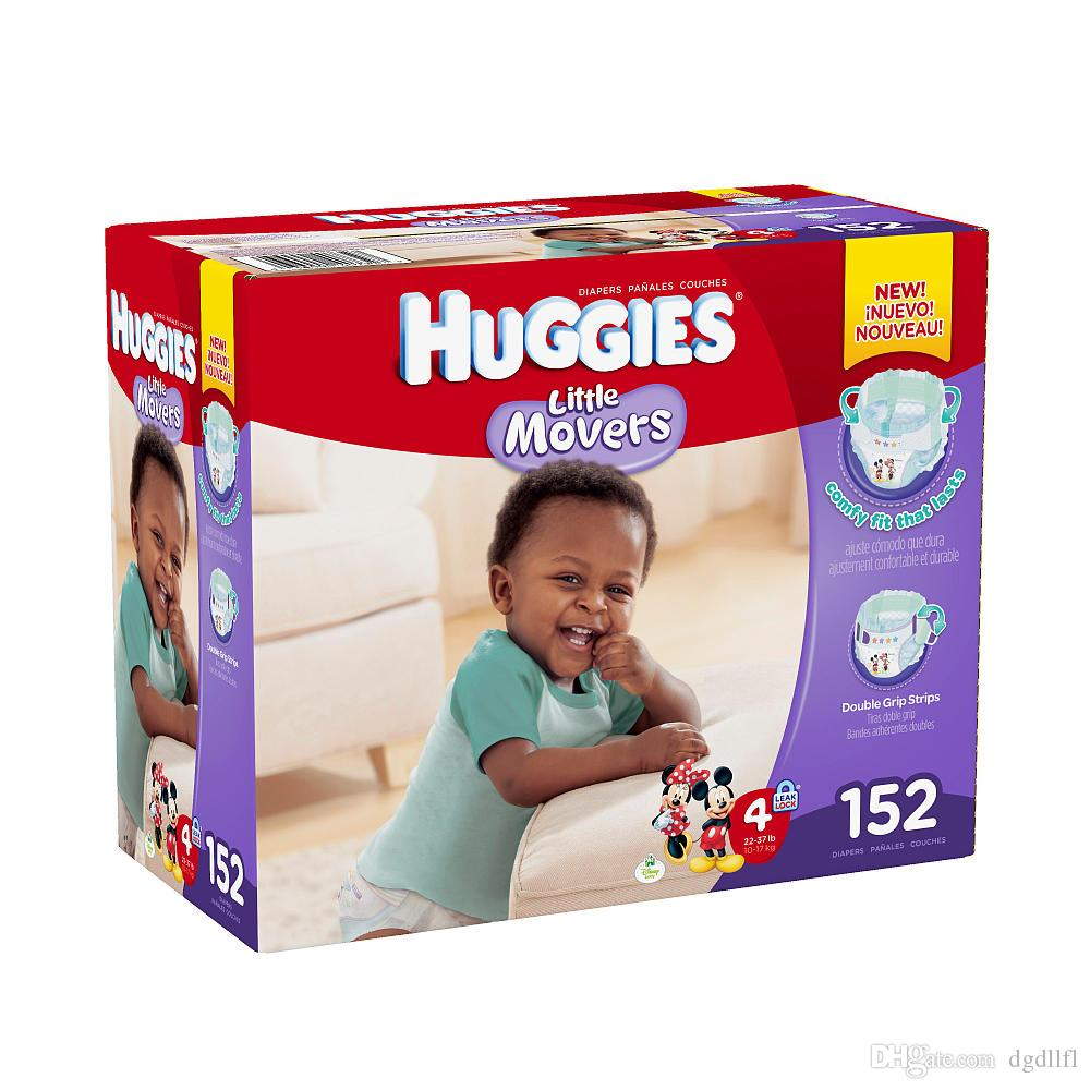 2017 2 Box 304 Count Huggies Little Movers Mickey Mouse Size 4 ...