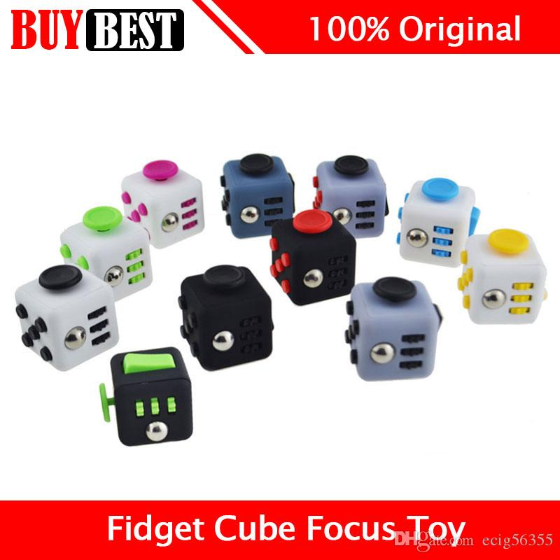 Plastic Big Size Fidget Cube Anxiety Stress Relief Focus Toy Help ...