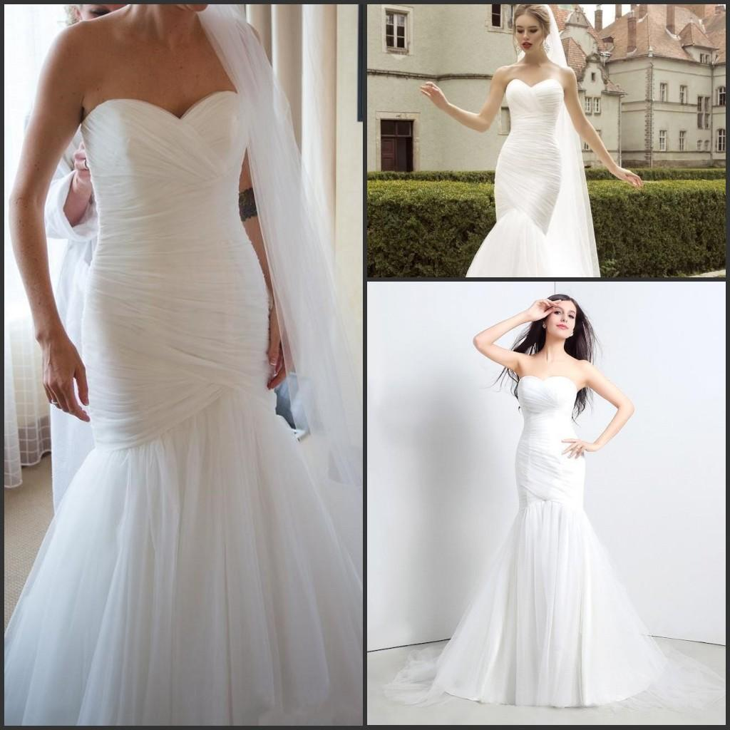 Inexpensive Chic Wedding Dresses : Chic cheap garden mermaid wedding dresses sweetheart ruched real