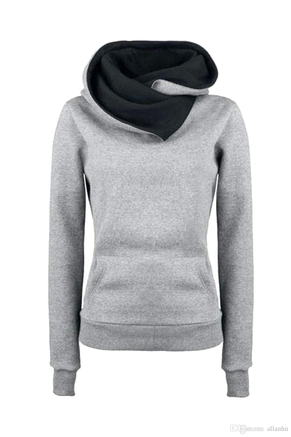 2017 Hot Selling New Arrival Women Active Cheap Gray Hoodies ...