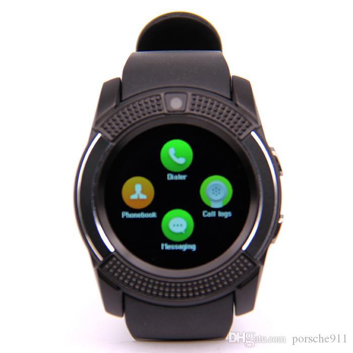 New V8 Smart Watch Sport Watch Full Screen Micro Sim Tf ...