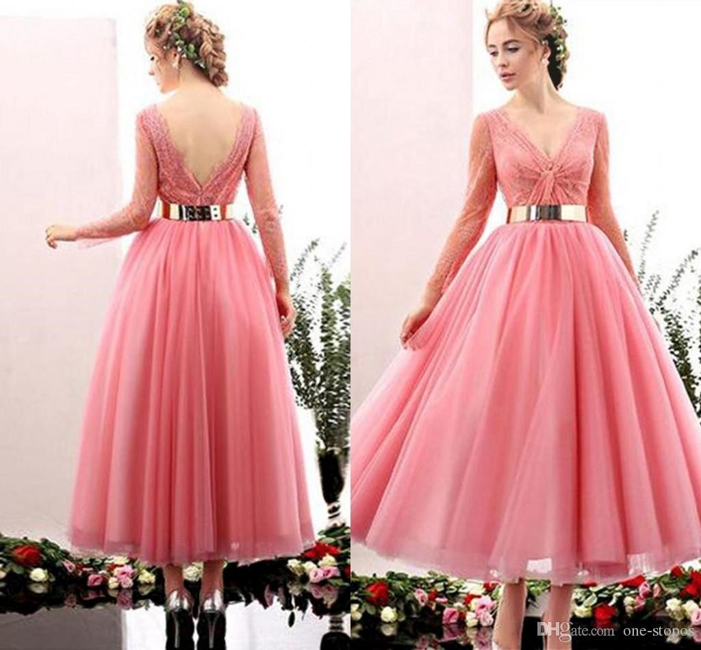 Hermosa Vintage Tea Length Prom Dresses Galería - Colección de ...