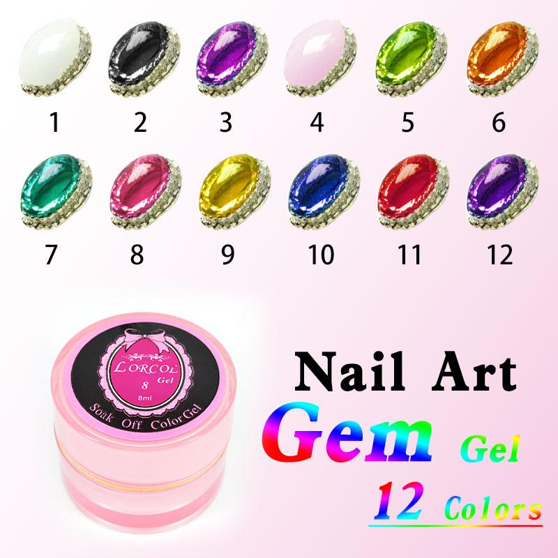 Grossiste # 40267 CANNI Nail Art Design 4D Gem Gel 2016 UV / LED Couleur Gel ong
