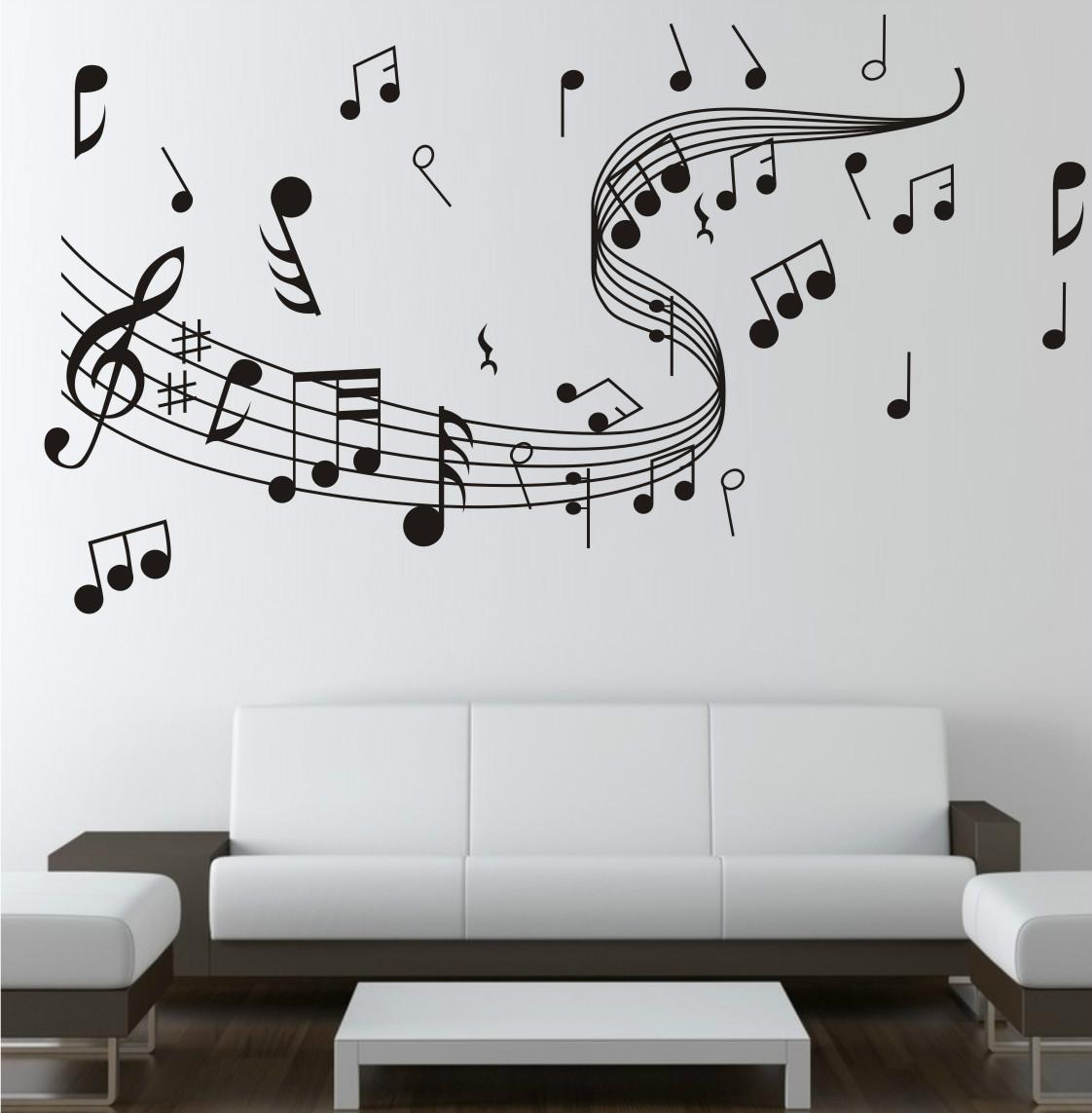 new diy wall stickers creative wall papers musical notation for new diy wall stickers creative wall