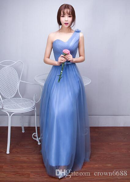 In Stock Bridesmaid Dress/Long Bridesmaid Dresses/Blue Bridesmaids ...