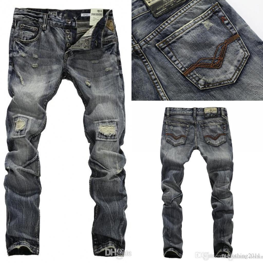 Hot Sell 2015 New Men Straight Designer Men Jeans Jeans Trousers ...