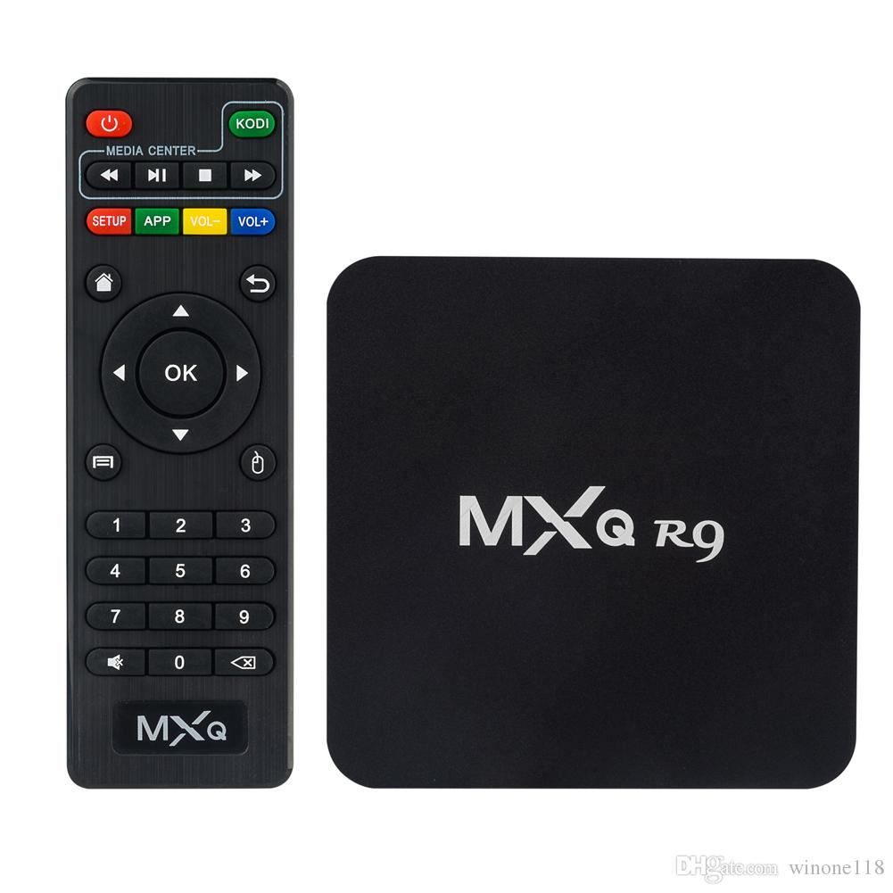 MXQ-R9 4K Android TV Box RK3229 Quad Core WIFI Stream 1G + 8G Entièrement Loaded