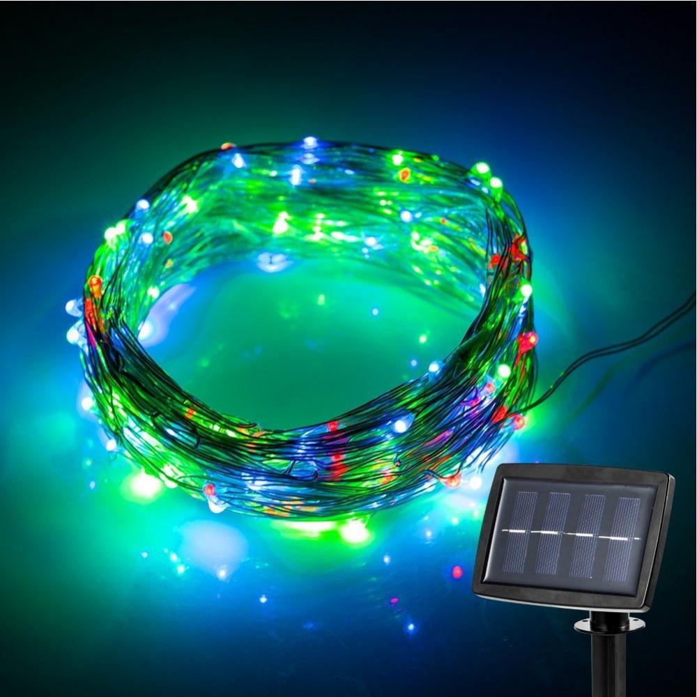 String Lights Bulk : Wholesale Colorful Starry String Light With 100 Leds Solar Powered For Gardens, Homes, Dancing ...