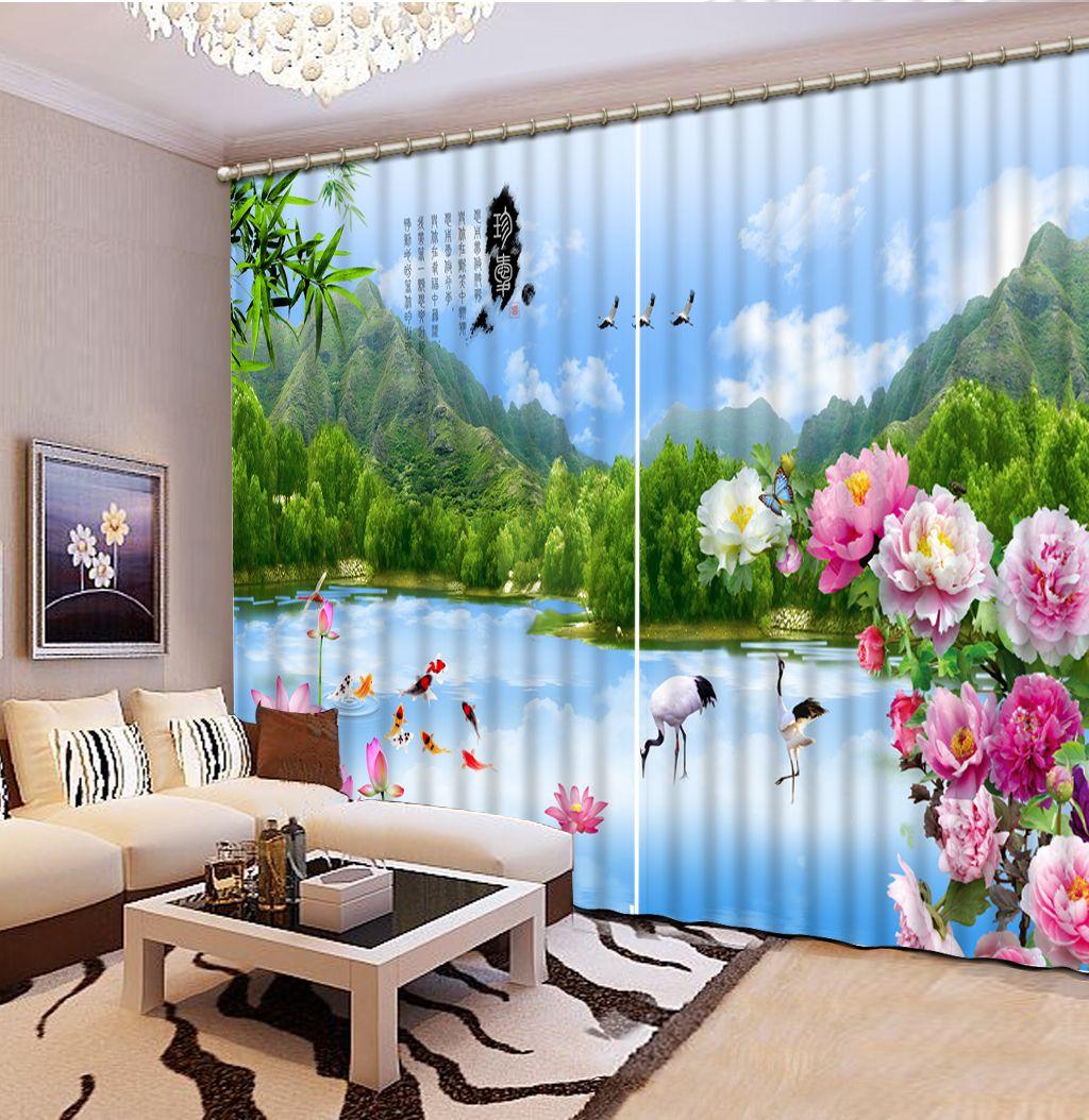 Scenery Wallpaper For Bedroom 2017 Top Classic 3d European Style Nature Scenery Flower Custom