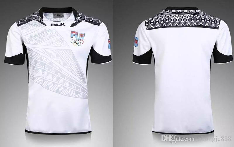 Thai quality New Zealand 2017 Jerseys Nouvelle Fidji Rugby Sevens Chemise olympi