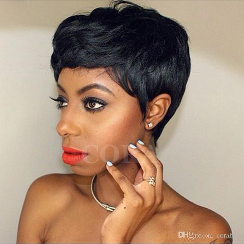 Short Wigs For African American Women Rihanna Short Pixie
