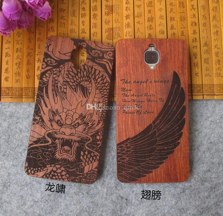 Best selling real bamboo wood carved phone case for