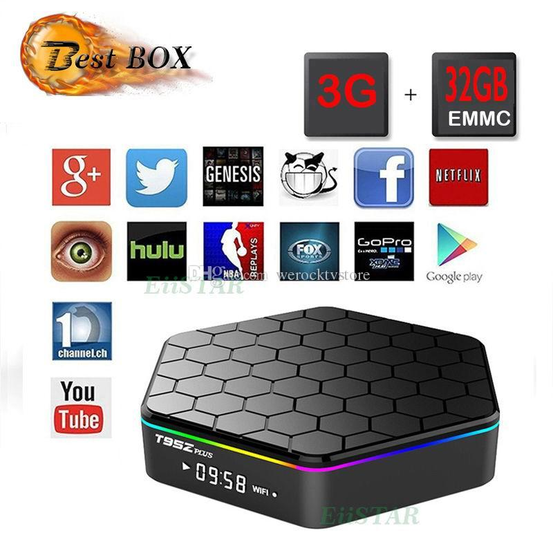 1 PCS Genuine T95Z PLUS Android6.0 3GB + 32GB S912 TV Box double wifi 2.4G BT4.0