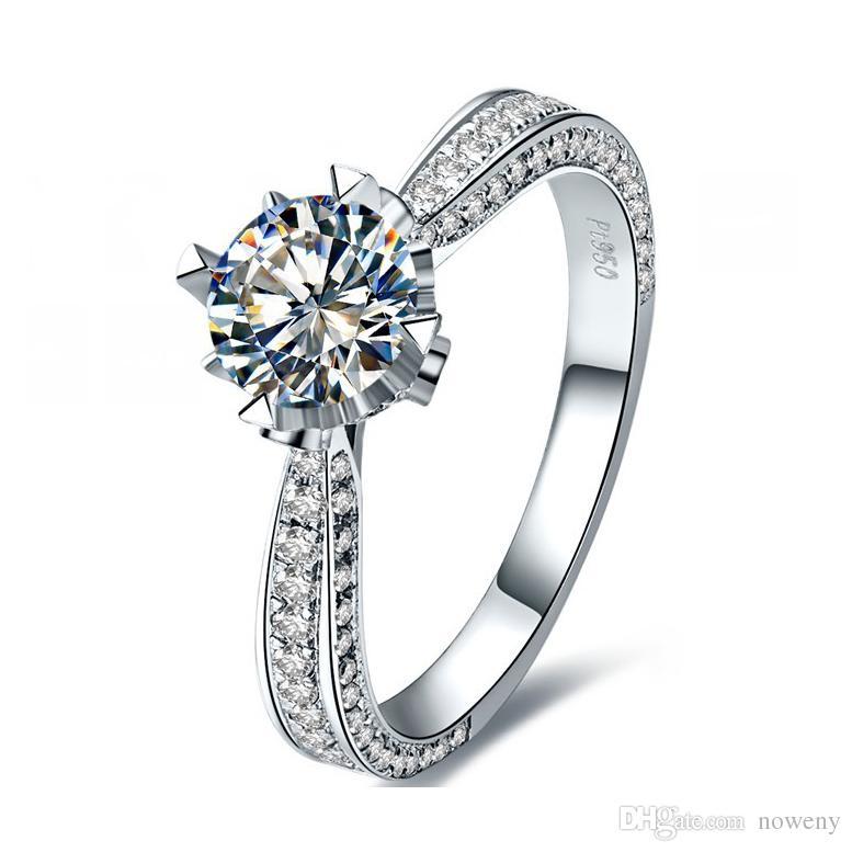 Scott Kay Platinum Engraved Five Diamond 0 30ctw Wedding: 2017 Brilliant Paved Setting 1.0ct Vvs Synthetic Diamond