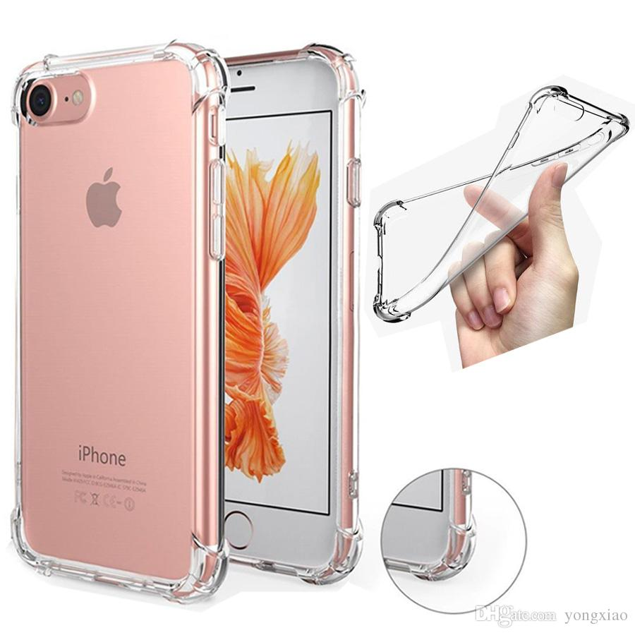 Antidéflagrant Transparent Soft Thicken Tpu Clear Gel Rubber Bulky Back Corner C