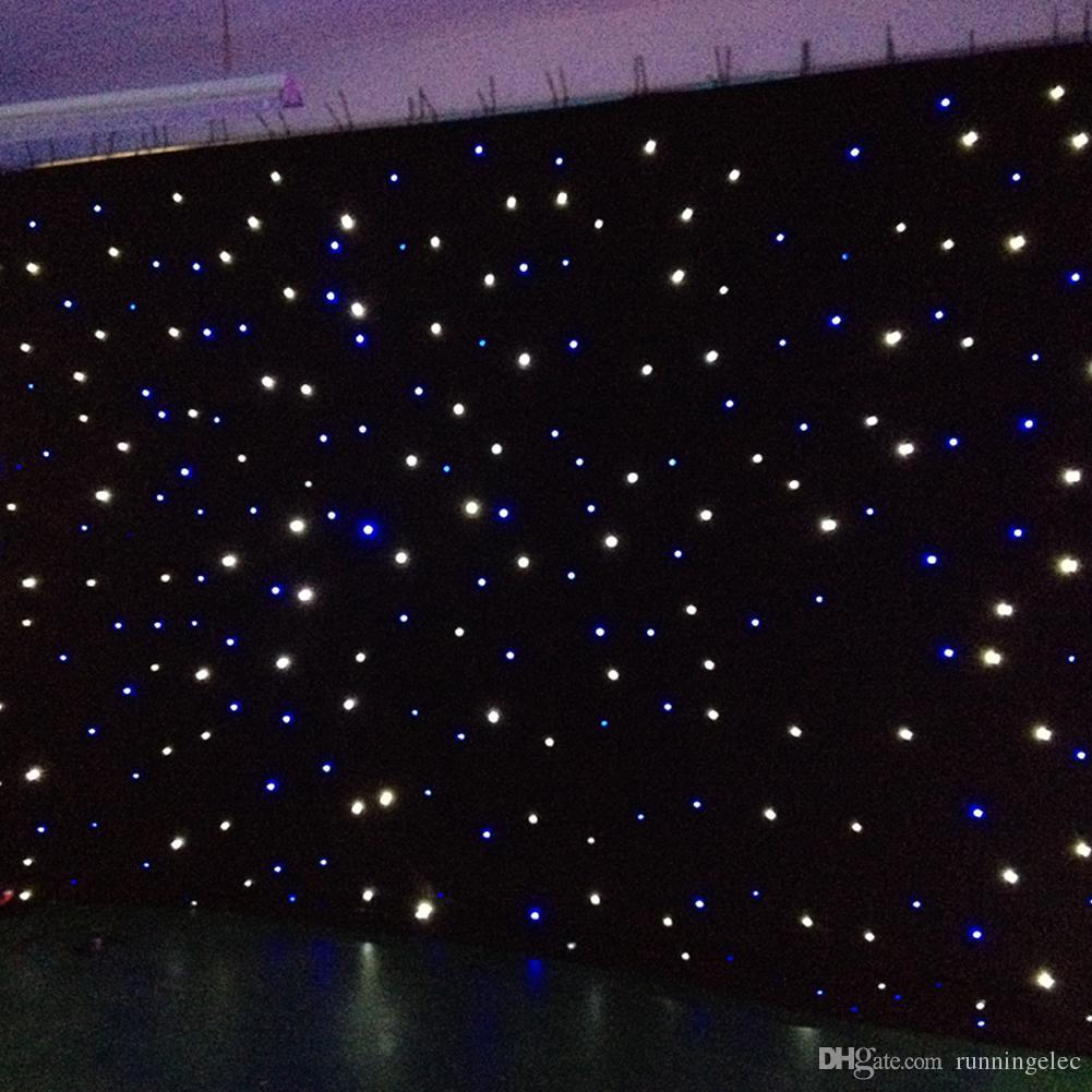 Star Curtain String Lights Wedding Backdrop Curtains Velvet Led Lamp Effects Starry Sky Cosmos ...