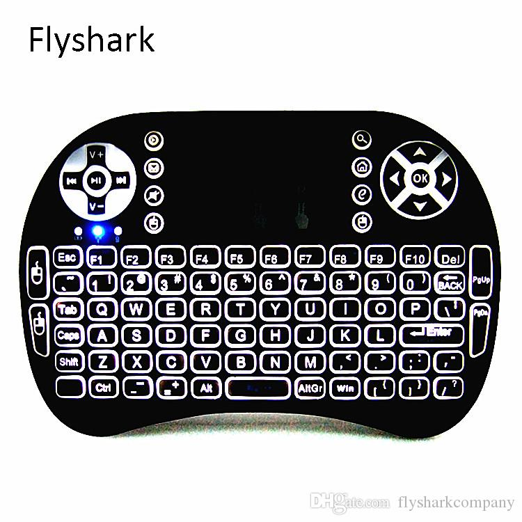 Rii I8 2.4GHz Wireless Mouse Gaming Keyboards White Backlight Multi-color Backlit Remote Control for S905X S912 TV Android Box T95 X96
