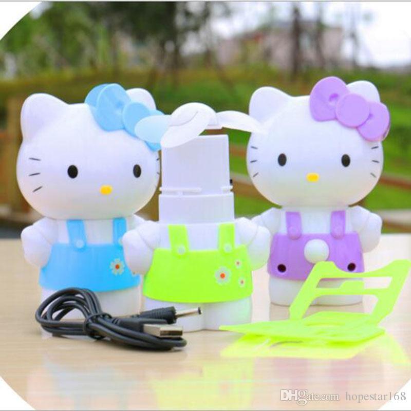 Hello Kitty Fan : Hello kitty fans cute mini portable fan usb