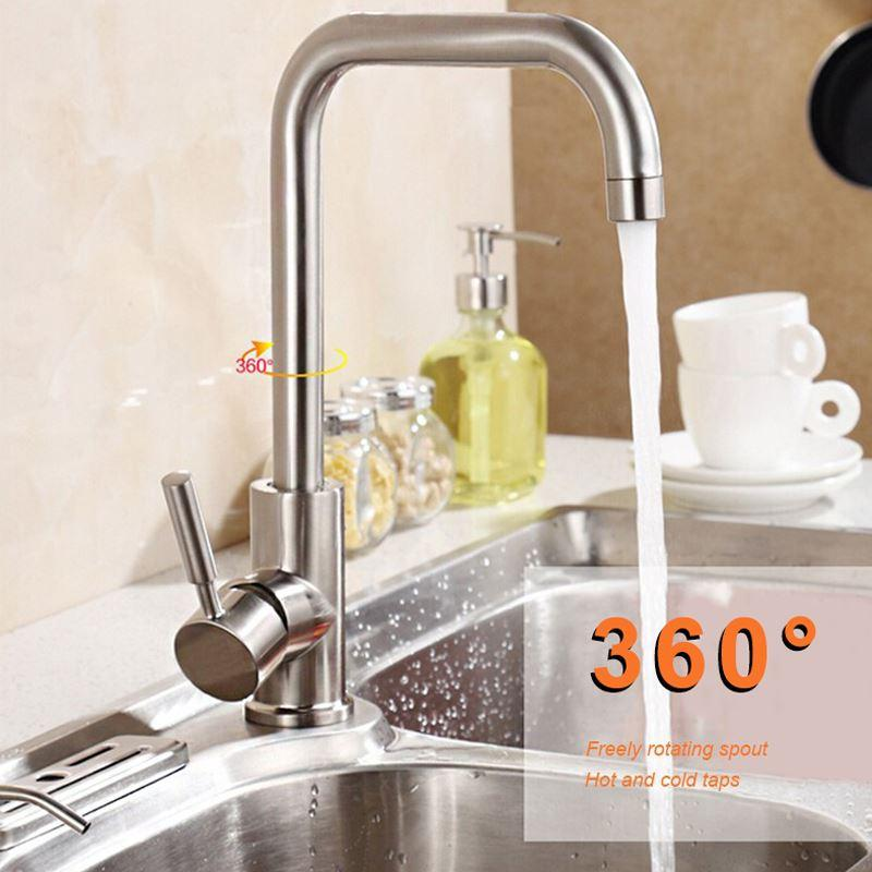brushed nickel kitchen faucet modern kitchen mixer tap stainless,Modern Kitchen Faucets Stainless Steel,Kitchen ideas