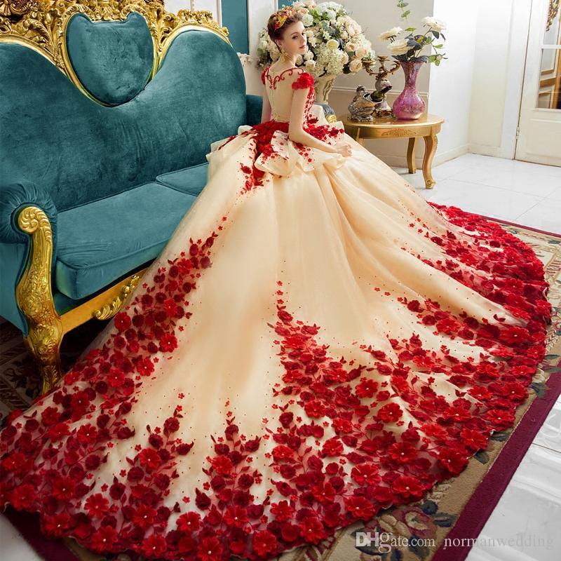 Retro Vintage Luxury Wedding Dresses 2017 Cap Sleeves Sheer Back