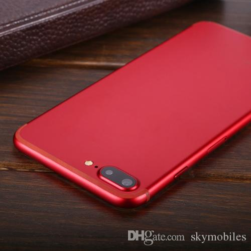 Dernières Red Color Goophone I7 Plus MTK6580 Quad Core Real 1GB RAM 3G WCDMA And