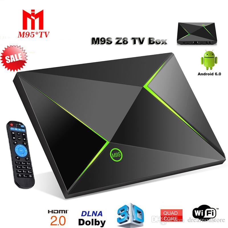 1 PCS M9S Z8 Android Box Internet TV 2.4G / 5.8G 802.11 AC double bande Wifi Ent