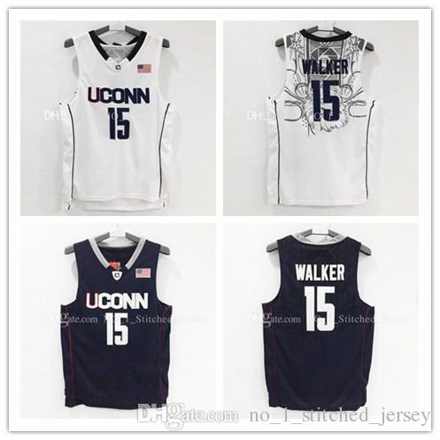 2017 Rev 30 Kemba Walker # 15 Maillot de basket-ball Hommes Uconn Huskies Maillo
