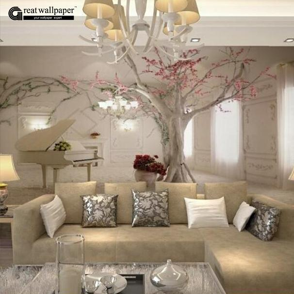WholesaleCustom Any Size D Wall Mural Wallpapers For Living Room - Living room wallpaper 2015