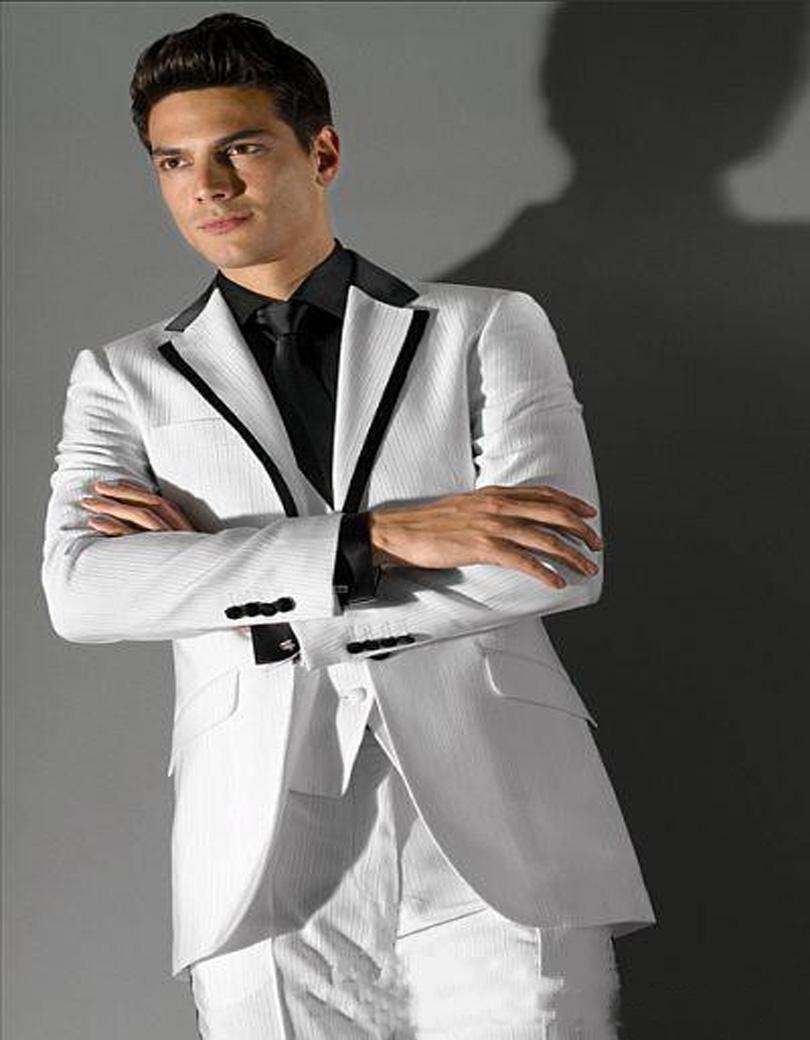 2017 Latest Coat Pant Designs Groom Tuxedos White Party Dinner ...