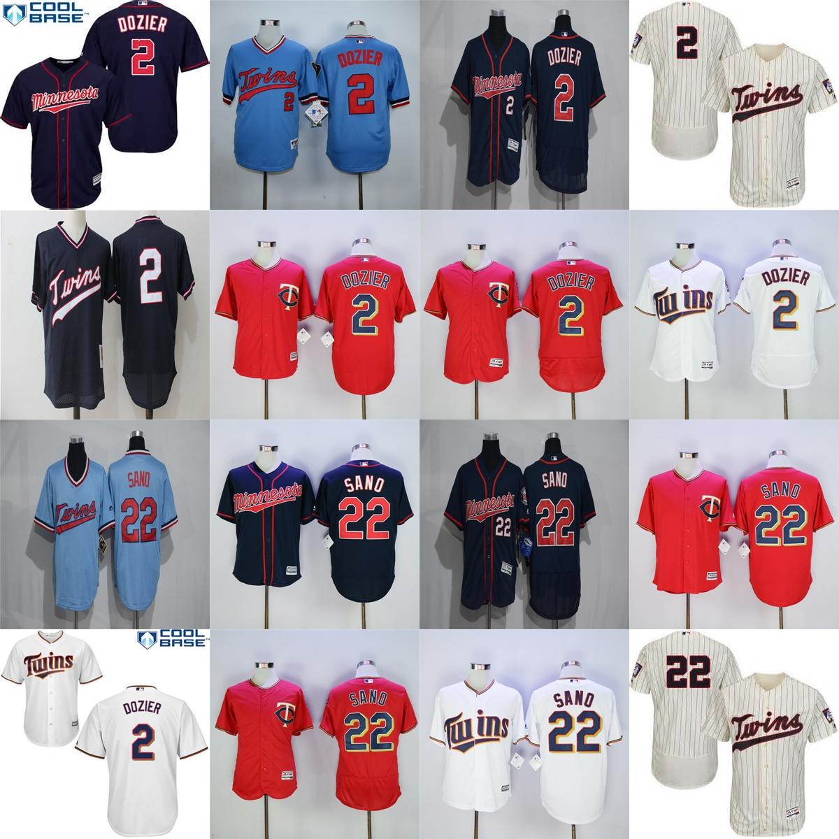 jersey 2017 wholesale mens womens youth minnesota twins 2 brian dozier 22 miguel sano white red blue