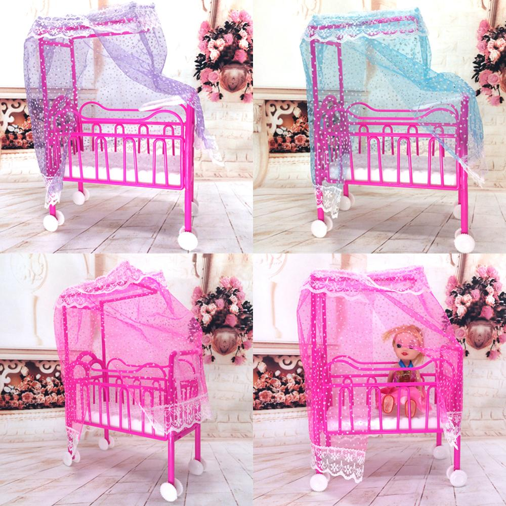 Baby bed accessories - Nk One Set Doll Accessories Baby Bed Super Cute Bed For Small Kelly Dolls For Barbie Dolls Girls Gift Favorite Design Toys Small Doll Accessories Accessory